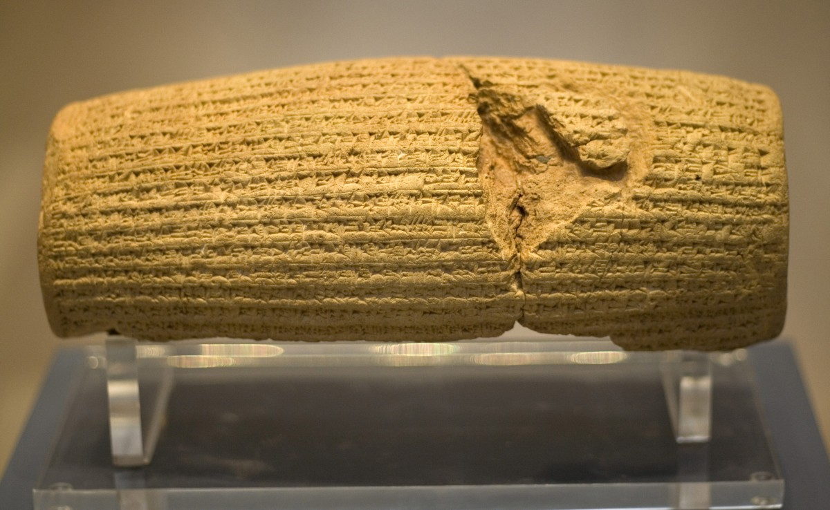The cylinder of Cyrus (c. 539 BC).