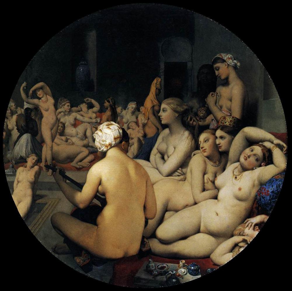 The Turkish Bath (Le Bain Turc), Jean-Auguste-Dominique Ingres, 1862.