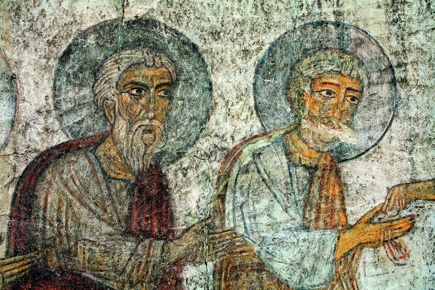 Depiction of Saints at Kobayr Monastery, 12th c., Lori district, Armenia.
