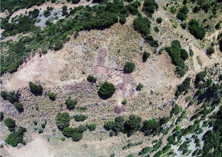 View of the excavation on Mygdalia hill.