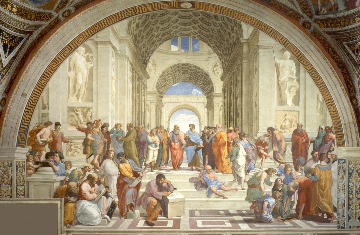 The School of Athens, by Raphael (1505). Photo: Wikimedia Commons.