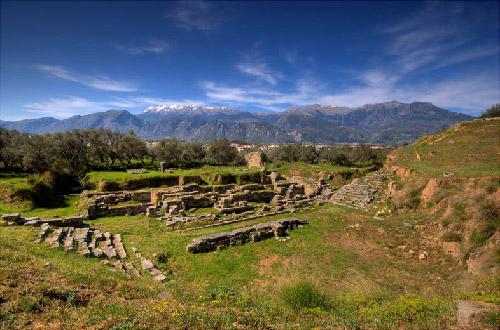Sparta's ancient theatre. 30-20 BC.