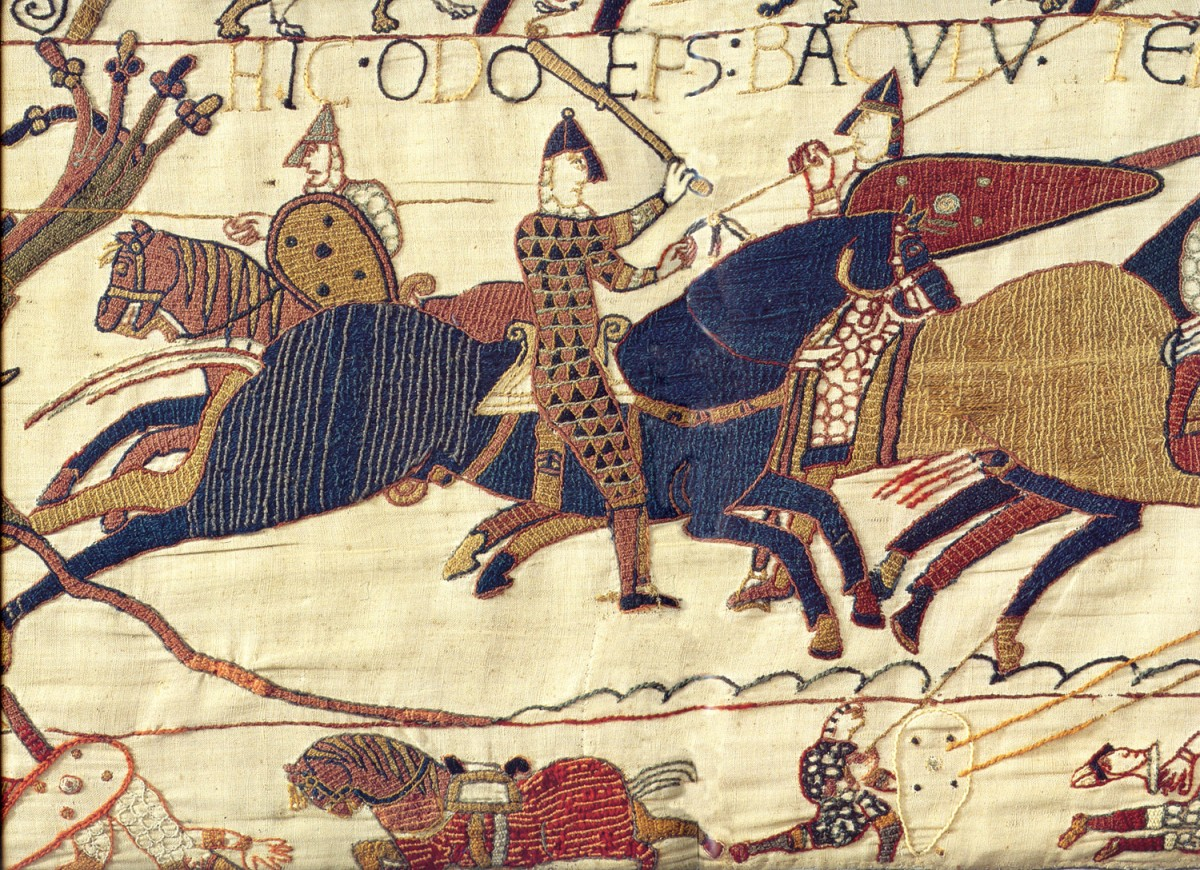 Detail from the Bayeux Tapestry.