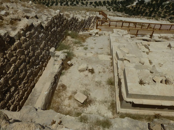 Mausoleum found withinh the Herodium which had been identified with the tomb of Herod the Great. Photo: J. Patrich.
