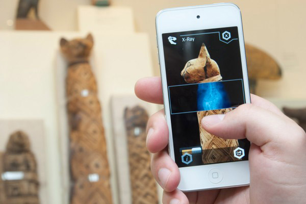 Scanning a cat mummy through ScopifyROM. Photo: History of the Ancient World.