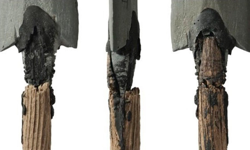 Arrow (different sides, detail). Trollheim, Norway, Neolithic period.