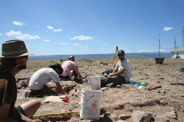 Excavating Tenderfoot, Colorado, US.