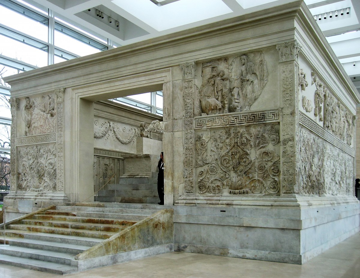 Ara Pacis, Rome. Photo: Wikimedia Commons.