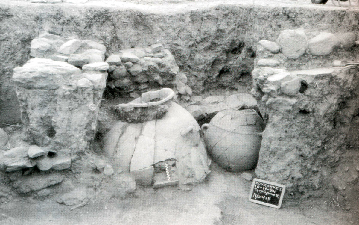 Fig. 19. Pithoi of the Middle Bronze Age (Trench 2).