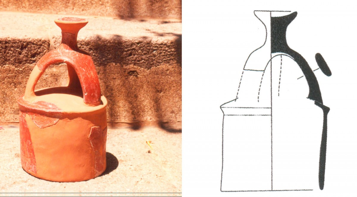 Fig. 28. Cylindrical lid with cruciform handle of the Early Bronze Age (Trench 3).