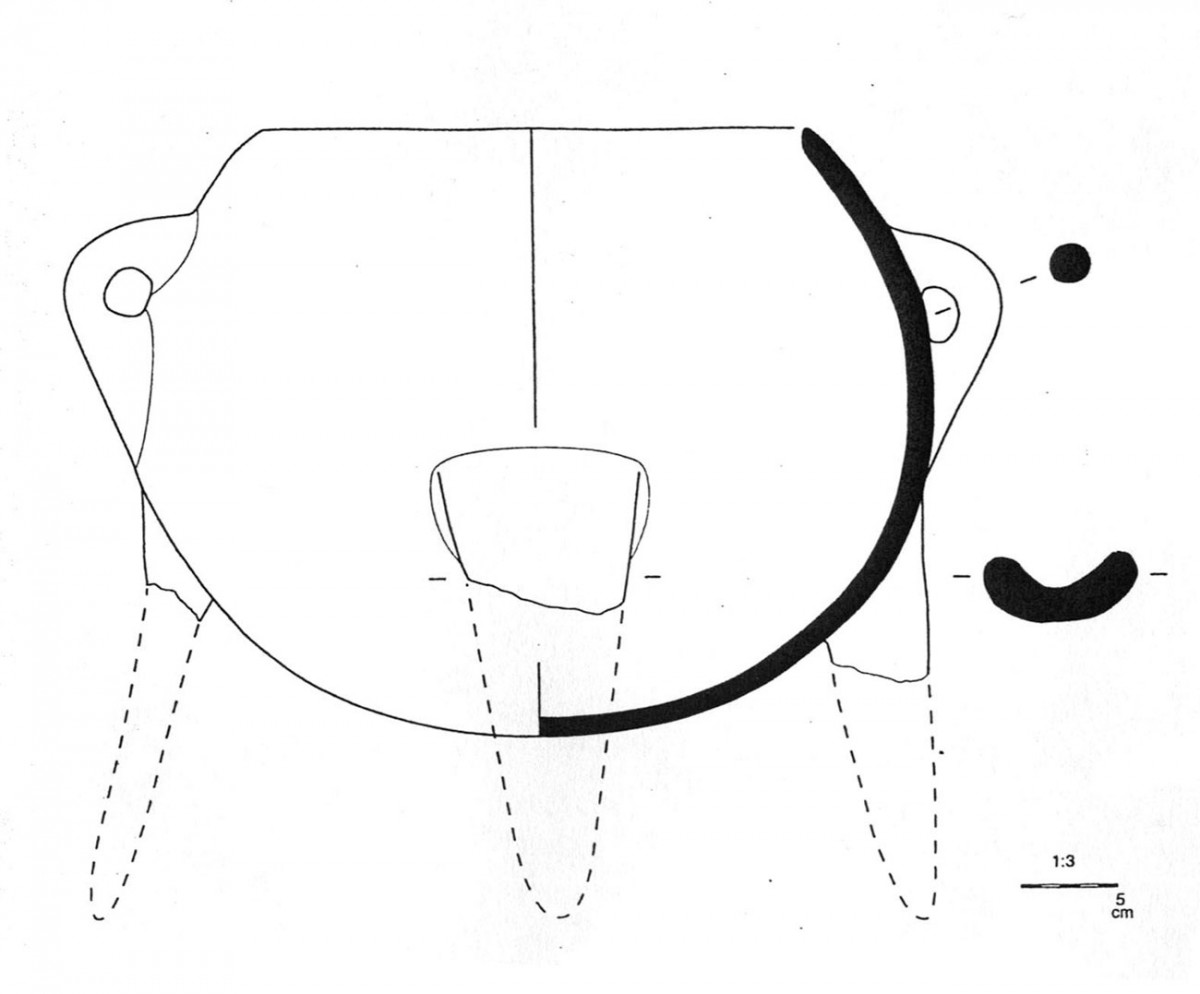 Fig. 34. Typical type of tripod cooking pot of the Middle Bronze Age (Trench 5).