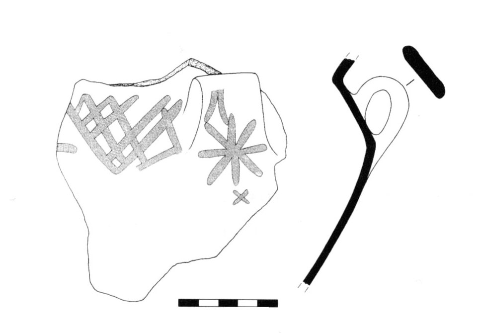 Fig. 35. Imported matt-painted pot of the Middle Bronze Age.