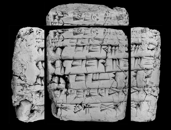 One of the 10,000 ancient tablets Cornell University has agreed to return to Iraq. They were donated by the family of antiquities collector Jonathan Rosen. Photo: Elizabeth Stone / February 1, 2011