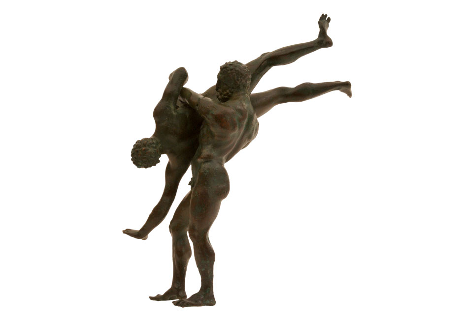 Bronze complex of wrestlers. 2nd-1st c. BC. National Archaeological Museum of Athens.
