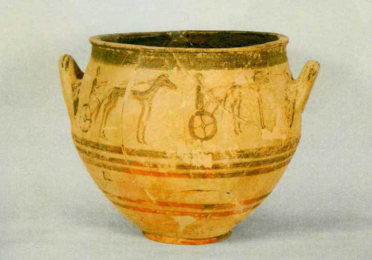 New important evidence has appeared as regards the burial customs of Elis, such as the marking of the graves with large amphorae and kraters and/or with stones, as well as the use of funeral biers.