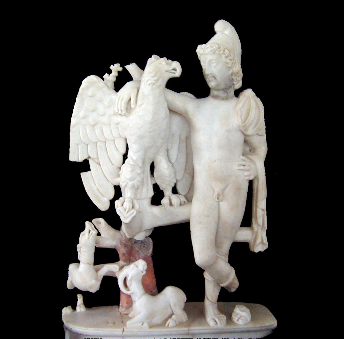 Ganymedes and the Eagle, Marble, 5th c. AD, Carthage, Pleo-Christian Museum.