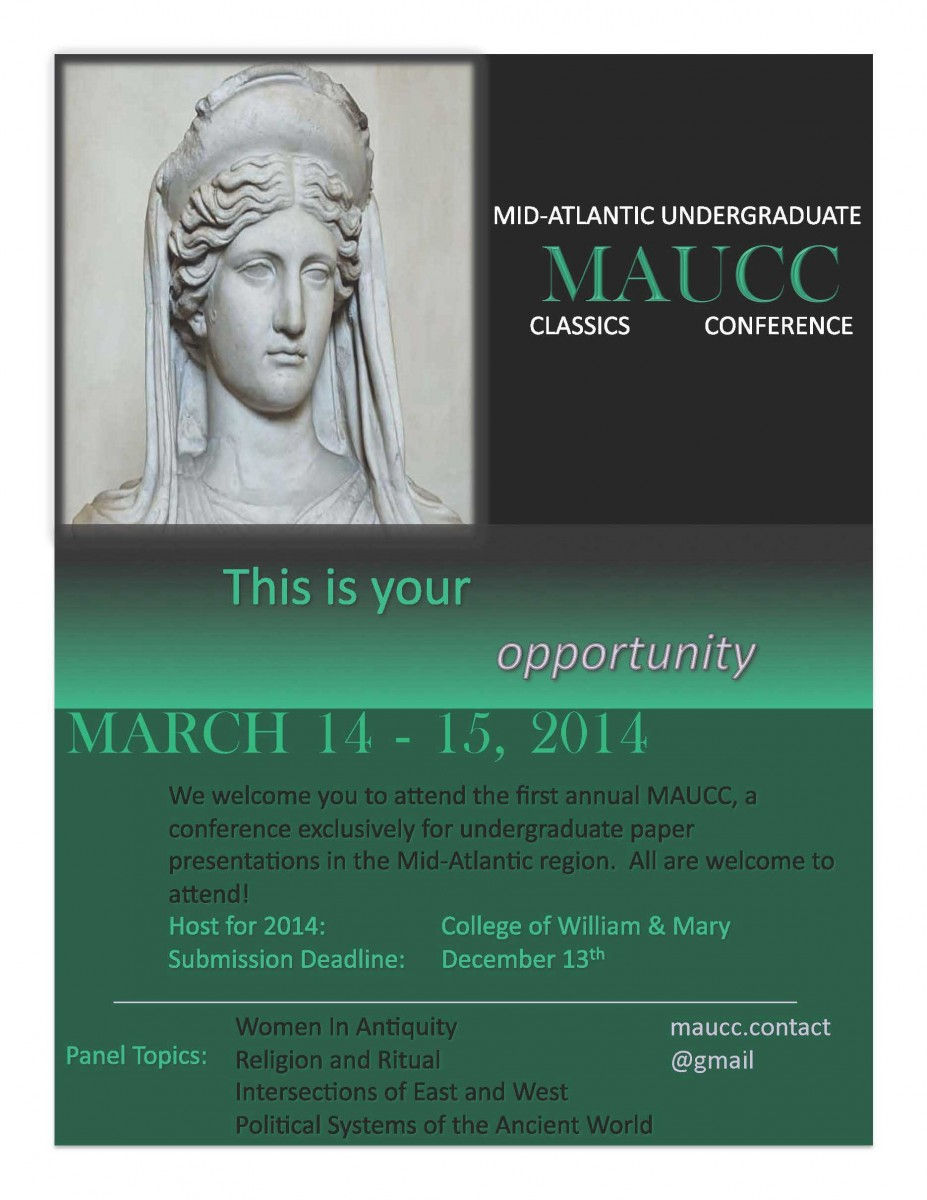 The flyer of the conference.