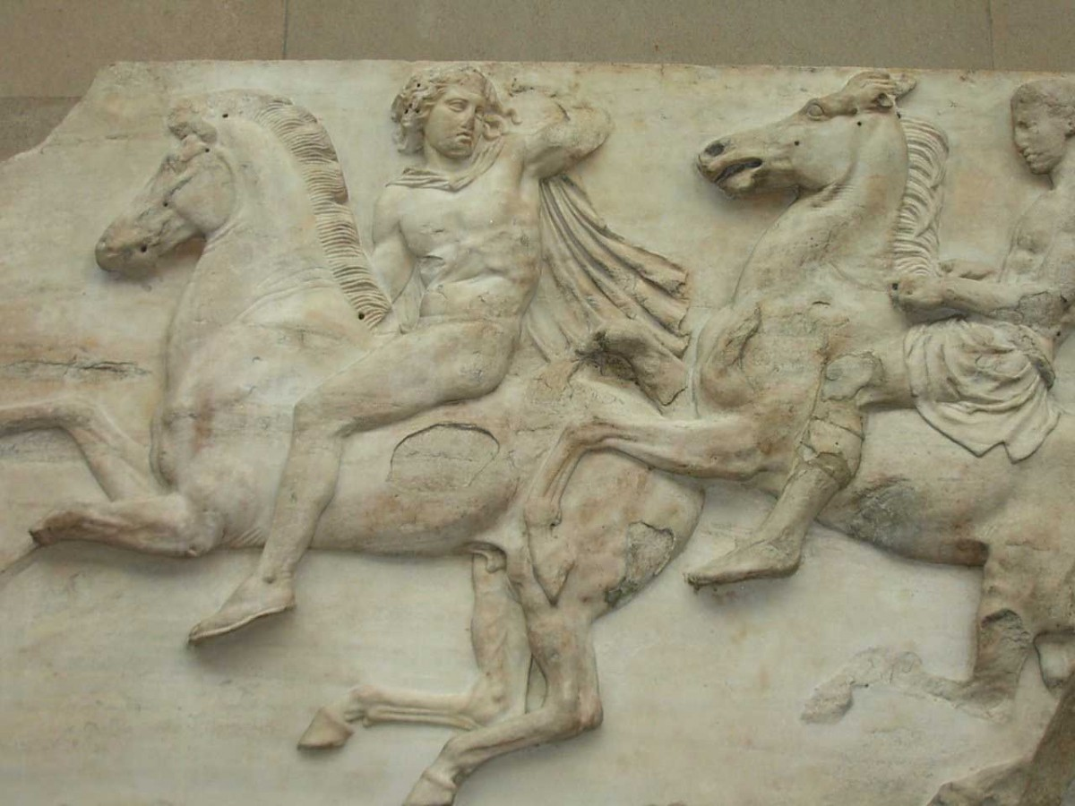 Cavalry from the Parthenon Frieze, West II, 2–3, British Museum.