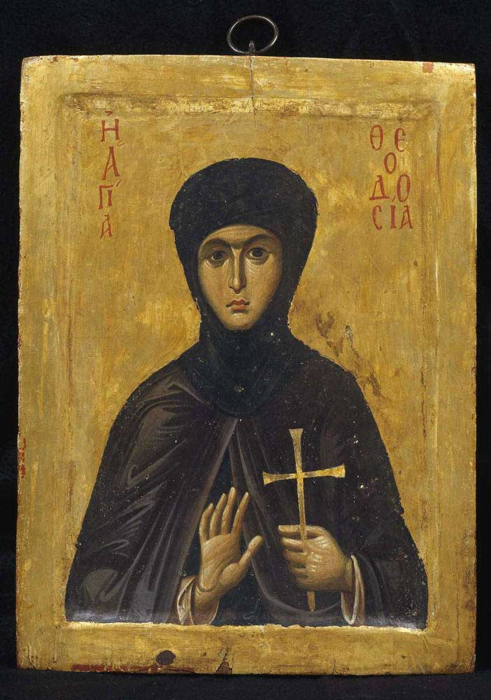Saint Theodosia (Byzantine, Early 13th Century A.D.). © The Holy Monastery of Saint Catherine, Sinai, Egypt; Photography by Bruce M. White, 2005