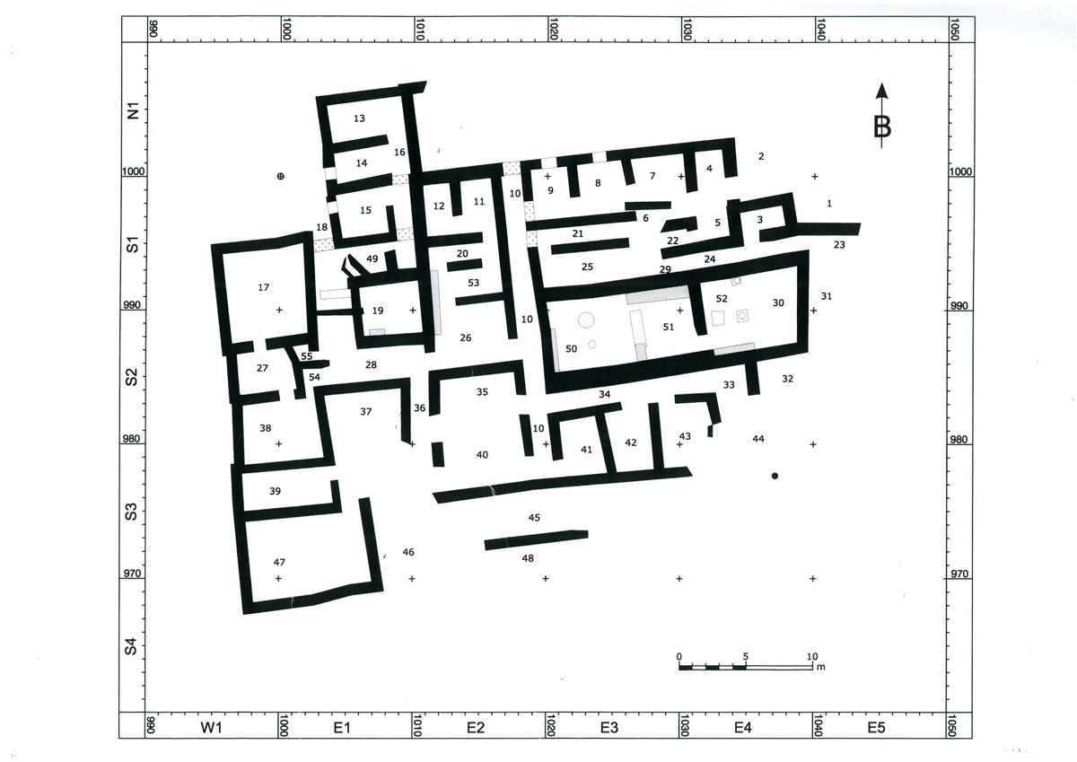 Fig. 2. Zominthos Central Building with more than 55 rooms at the ground floor, with a second or a third storey in its greatest part, is the biggest Minoan settlement known to date on the mountains.