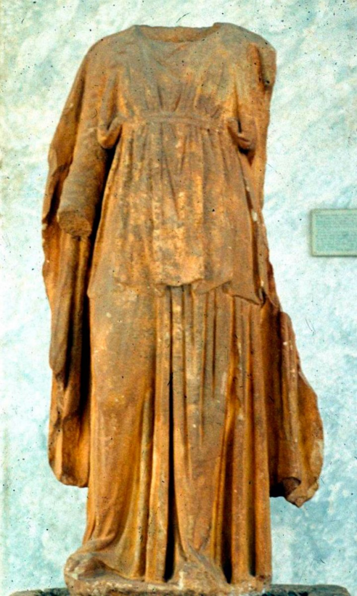 "Fig. 2. The statue of Apollo, in the type of ""the Guitar Player"", was found in 1888 at Xeropotamos bay (Athens, National Archaeological Museum, Cat. Nr. 230)."
