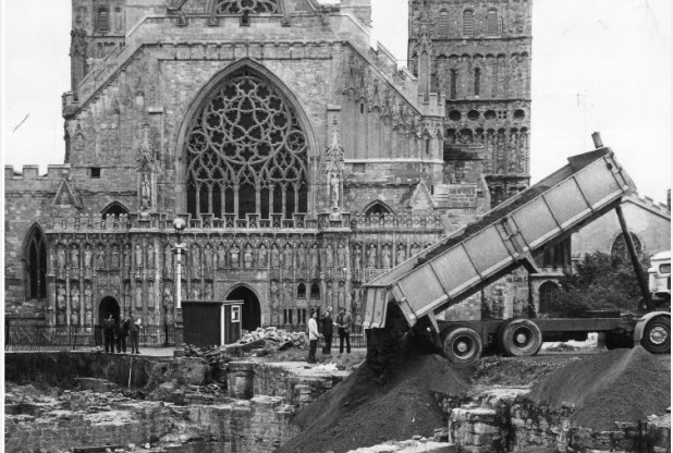 Dr Jonathan Draper, Dean of the cathedral, said he wanted to make the 2,000-year-old remains more accessible. Image: Exeter Express and Echo.