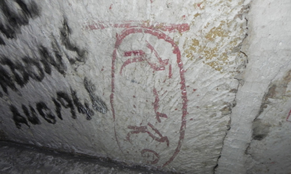 Graffiti reporting the name of Pharaoh Khufu, Great Pyramid, Giza, Egypt. Photo: Ahram