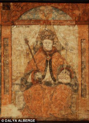 Mural depicting Henry VIII, Milverton UK, 1530-1540 AD.