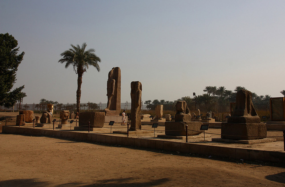 Antiquities in the museum area of Mit Rahina (Memphis). Photo: MT Photography@flickr.com