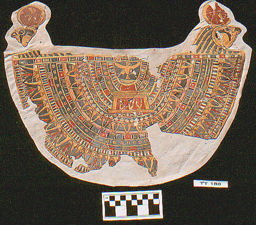 Cartonnage collar, part of mummy attire. TT 188, Luxor, Egypt, c. 300 BC. Photo: Susan Redford.