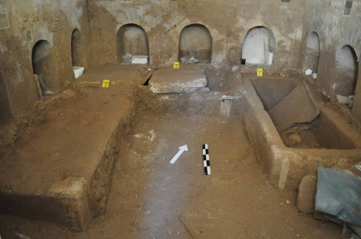 Roman tomb (general view), Corinth, 1st-2nd c. AD, found in 2013.
