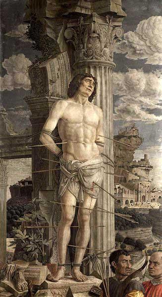 Martyrdom of Saint Sebastian, Andrea Mantegna, c. 1480. Louvre Museum.