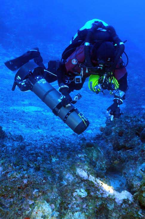 The team of underwater archaeologists used cutting-edge technology to investigate the area.
