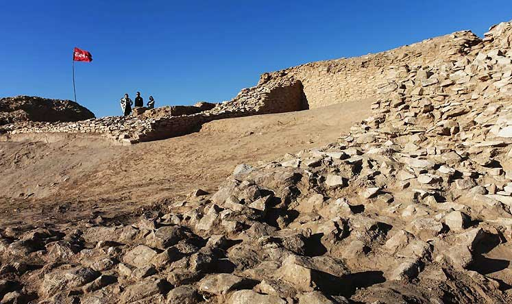 The Shimao Ruins, the site of a neolithic stone city in Shenmu county, northern China's Shaanxi province [Credit: AFP]