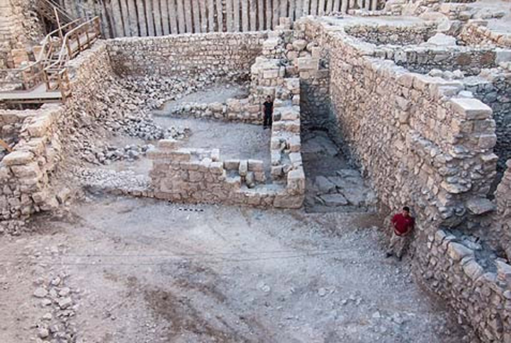 Remains of a Hasmonaean period building. Giv'ati, City of David, Jerusalem. Photo: Israel Antiquities Authority