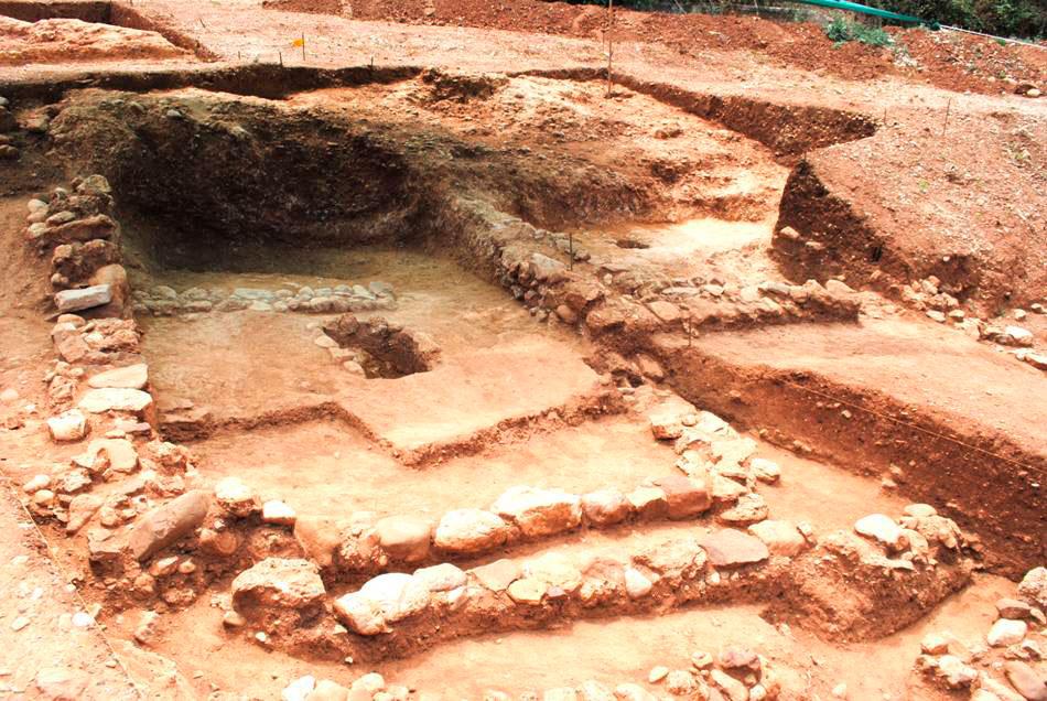 Fig. 10. Nikoleika: Mycenaean house from NE.