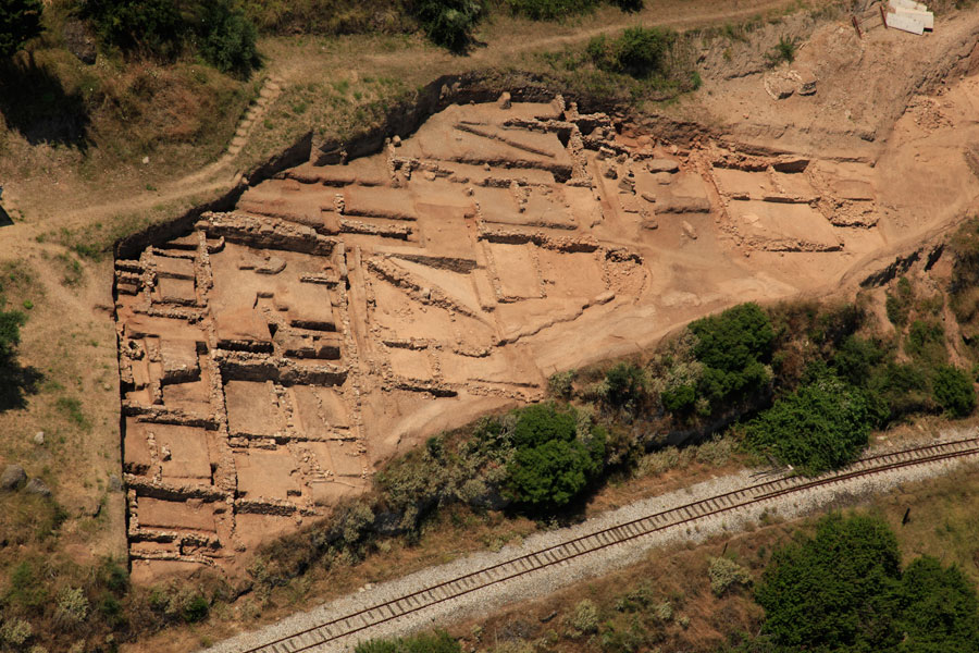 Fig. 14. Aerial view of the ancient settlement in Trapeza.