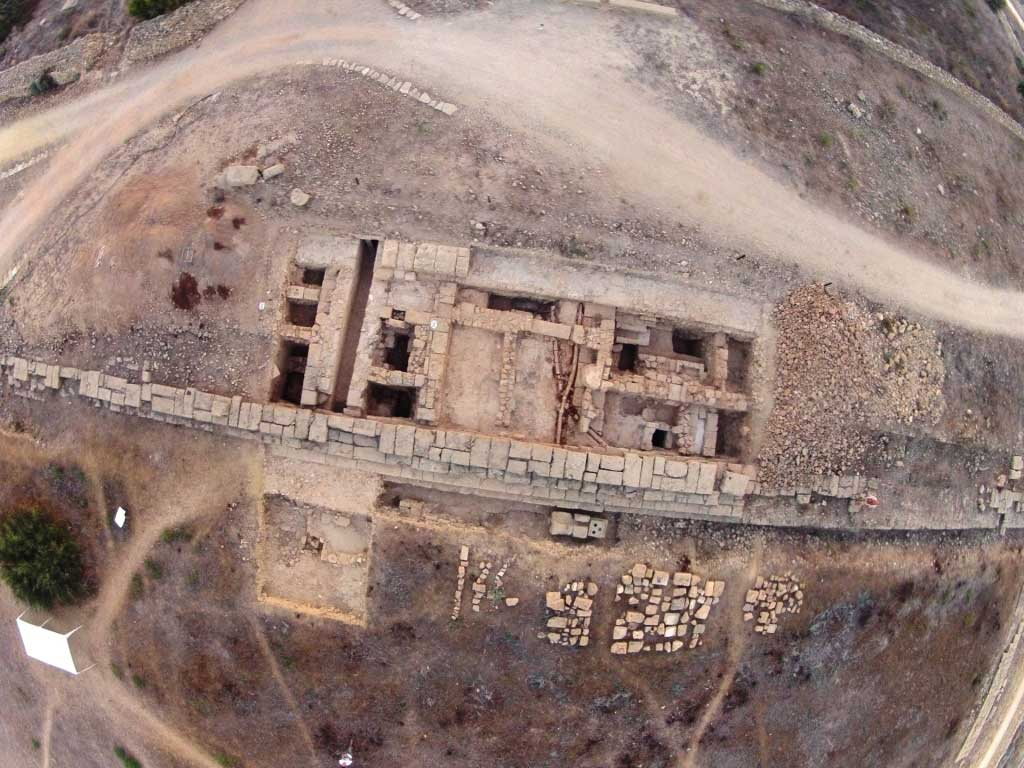 Nea Paphos Agora- Aerial view of Trench II made with quadrocopter (by M. Rajwa).