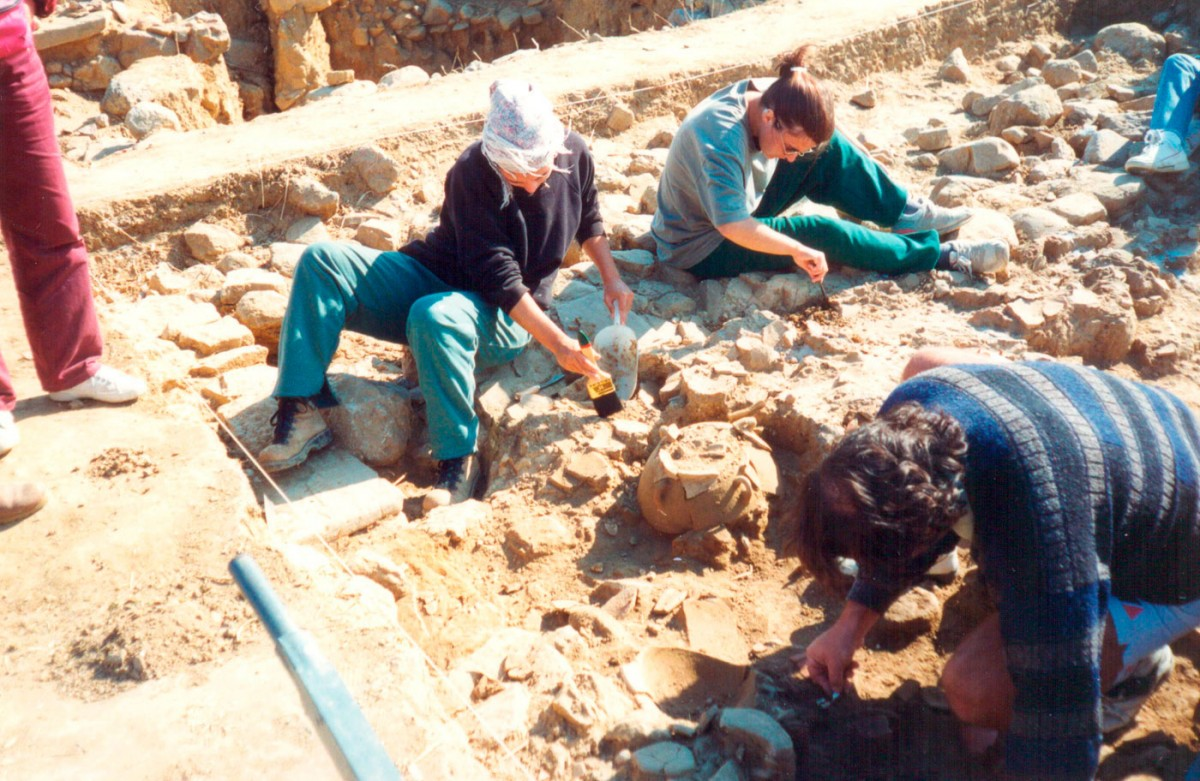 Fig. 4. Snapshot of the excavation at Trench 3 (1995).