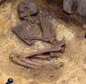 Ancient skeleton found in North Yorkshire sewer trench