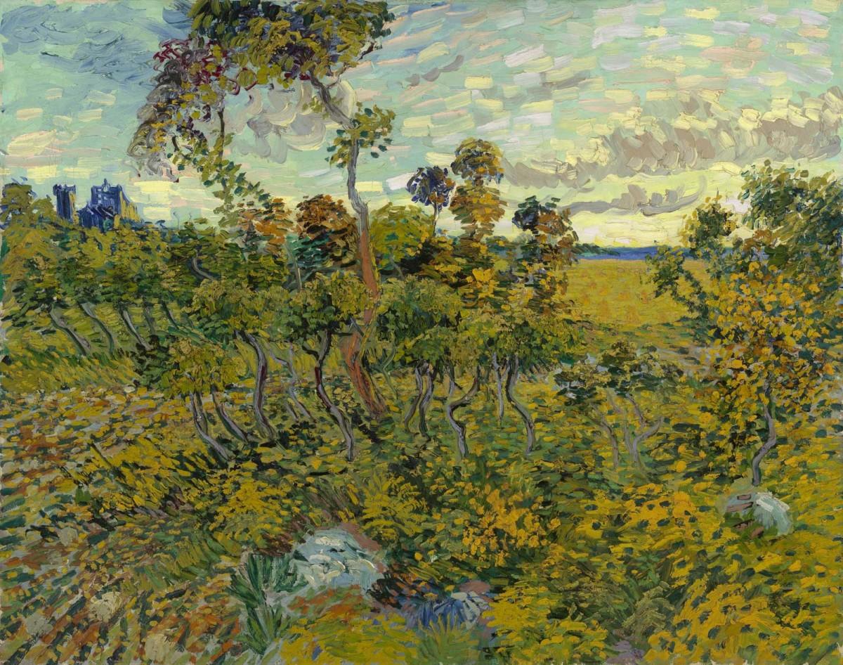 Sunset at Montmajour, Vincent van Gogh, 1888.