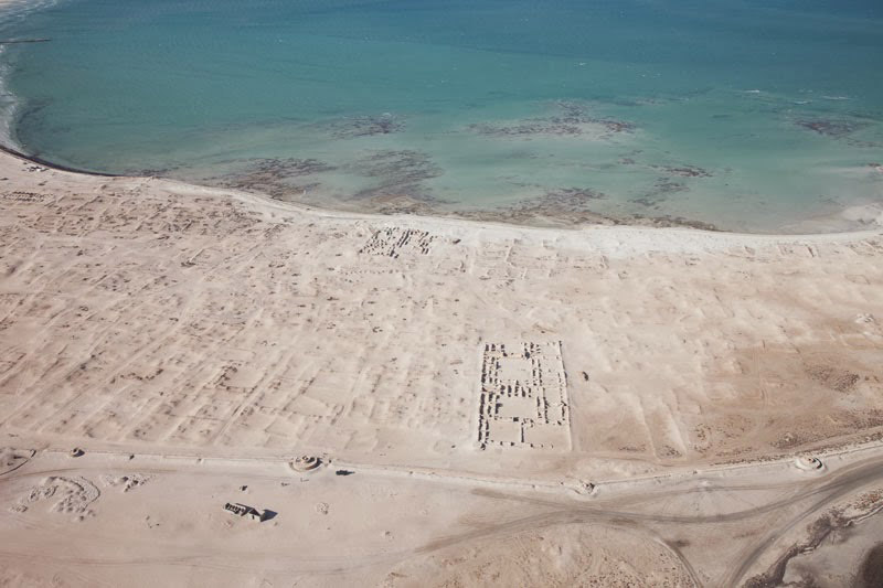 The Remains of Al Zubarah (aerial view). 18th-19th c. Qatar. Photo: University of Copenhagen