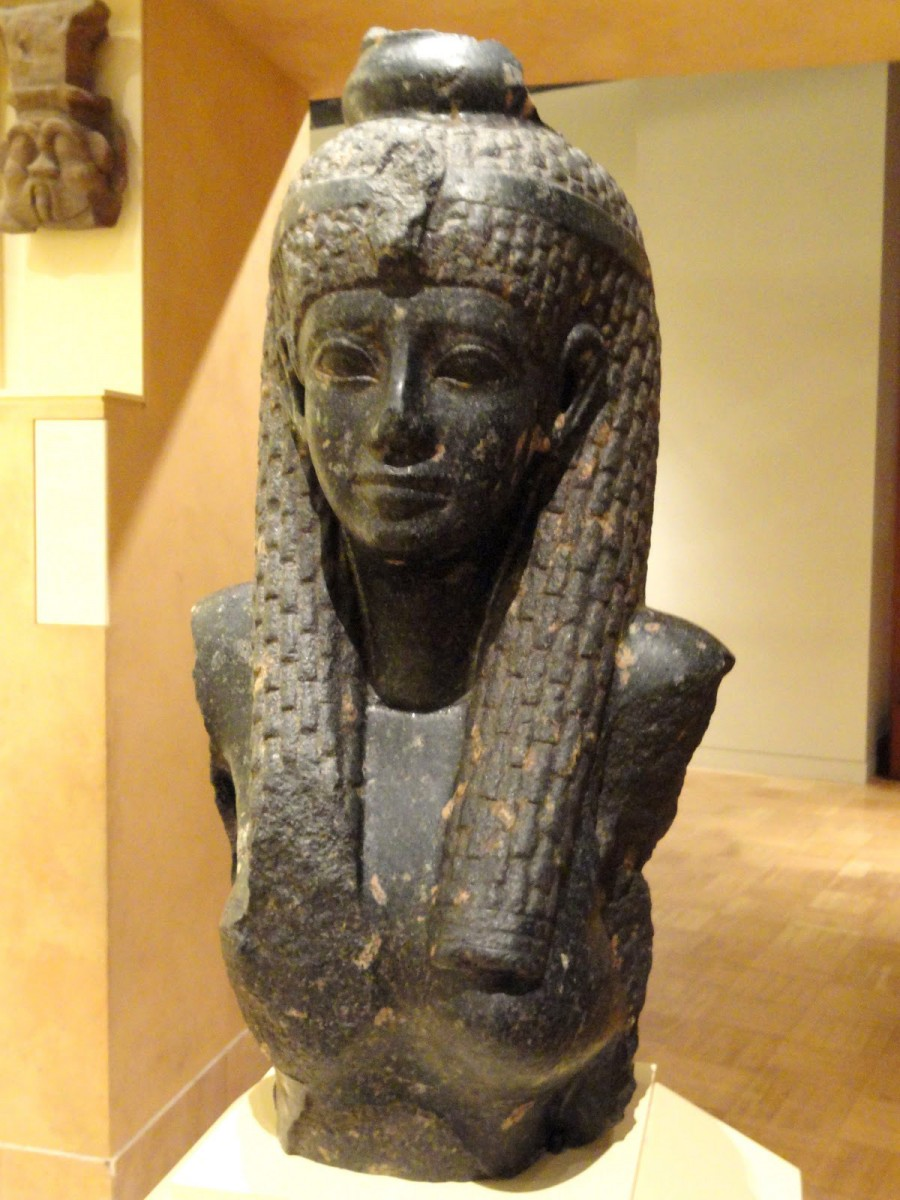 Statue of a Ptolemaic queen. Archive Photo.
