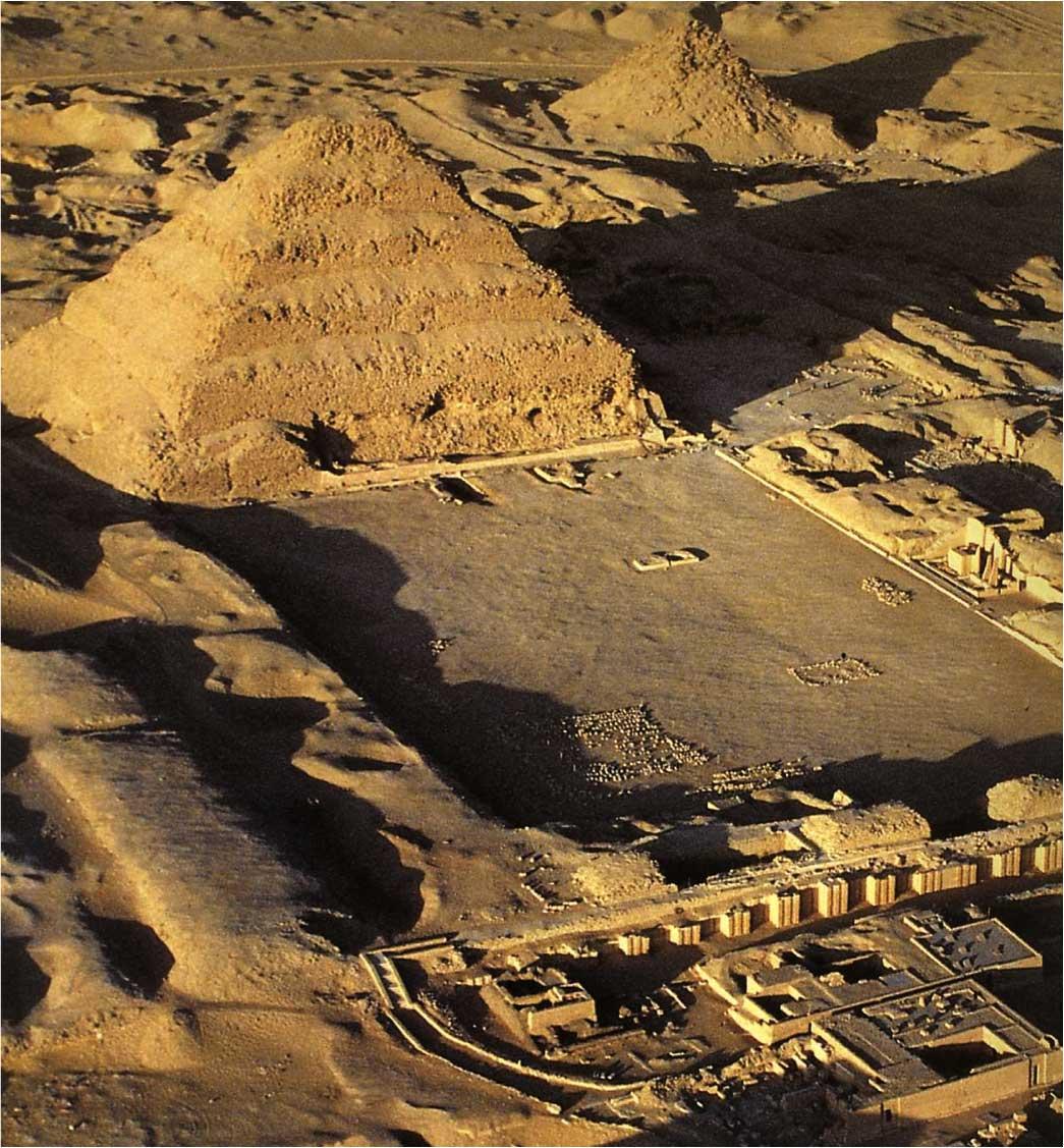 The Djoser Pyramid.