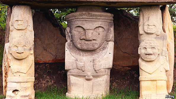 Statues from San Agustín, Colombia. Image: The Economist.