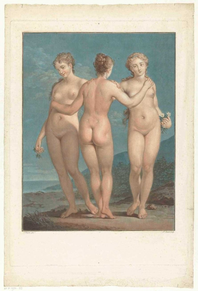 """Europeana's Open Culture app showcases some great collections of art, like those of the Riijksmuseum. Here """"The Three Graces"""" of Jean François Janinet."""