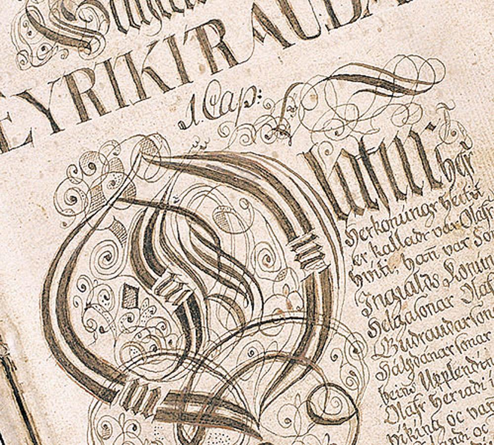 Saga of Eric the Red (Eiríks saga rauða). Manuscript. 17th century. Iceland, National and University Library of Iceland.