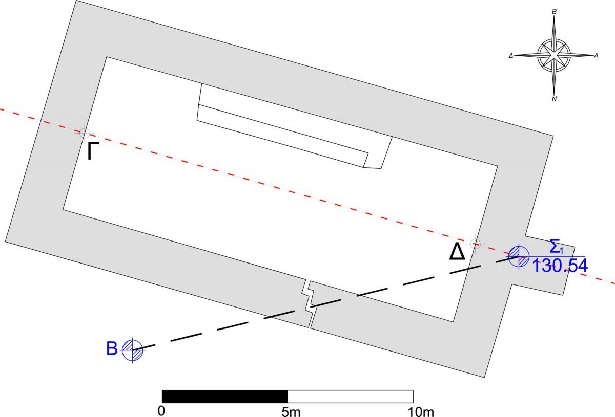 Fig. 3. Groundplan of the temple  (Γιαβής 2005).