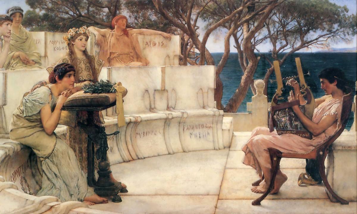 Sappho and Alcaeus, by Lawrence-Alma Tadema. 1881.