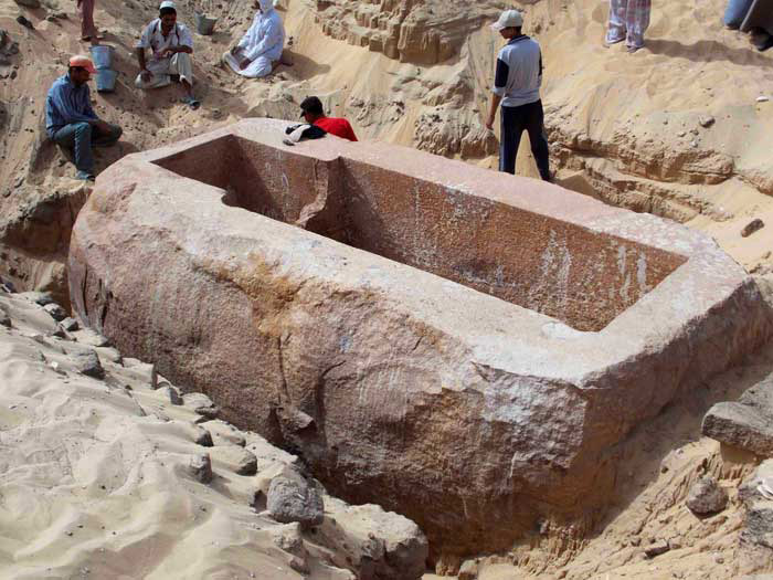 The sarcophagus of Sobekhotep as found in Abydos. Image: Art Daily.
